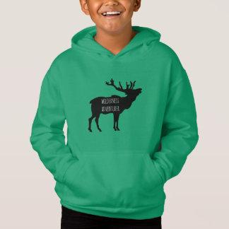 Wilderness Adventurer Elk Fleece Pullover Hoodie