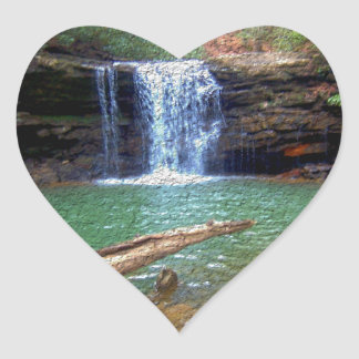 Wilderness Appalachian Waterfall Heart Sticker