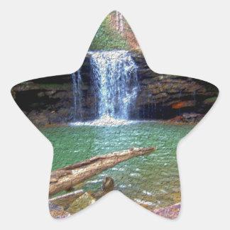 Wilderness Appalachian Waterfall Star Sticker