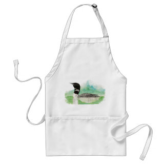 Wilderness Art Common Loon Bird Apron
