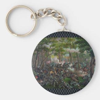 Wilderness Battle Basic Round Button Keychain
