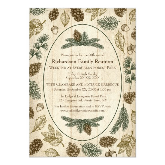 Wilderness Camping Family Reunion Jamboree BBQ Invitation