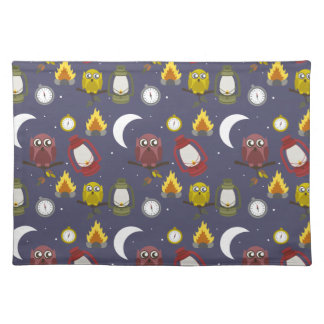 Wilderness Camping Theme Cloth Placemat