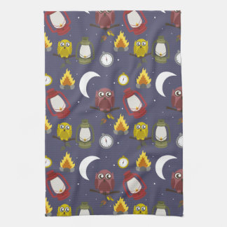 Wilderness Camping Theme Hand Towels