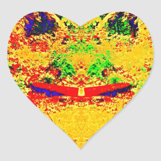 Wilderness Color Mix Heart Sticker