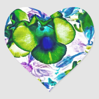 Wilderness Flowers Heart Sticker