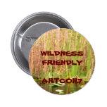 Wilderness Friendly Water Lilies Button
