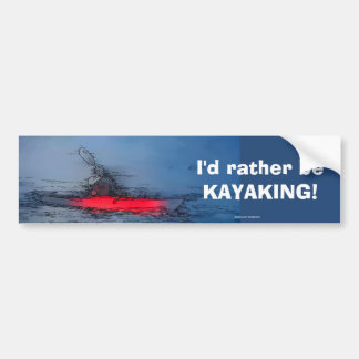 Wilderness Kayaker Bumper Sticker