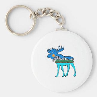 Wilderness Moose Keychain