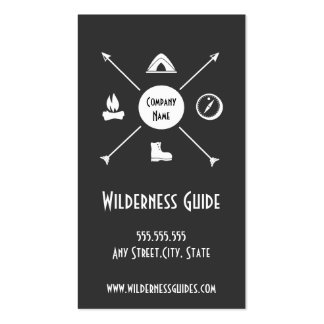Wilderness Outdoor Guide Business Card