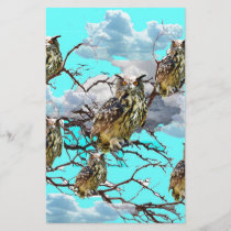 WILDERNESS OWLS WITH TREEBLUES DESIGN GIFTS