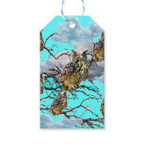 WILDERNESS OWLS WITH TREEBLUES DESIGN GIFTS GIFT TAGS