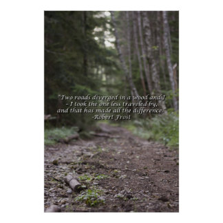 Wilderness Robert Frost Quote Poster - Large