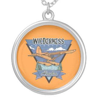 Wilderness Seaplane Adventure Alaska Silver Plated Necklace