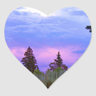 Wilderness sunset heart sticker