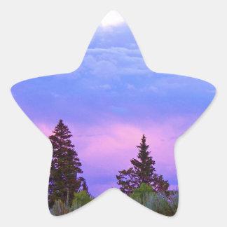 Wilderness sunset star sticker