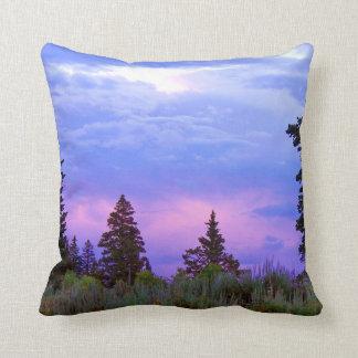 Wilderness sunset throw pillow
