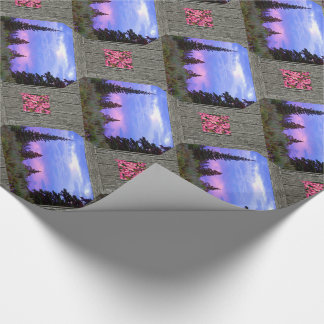 Wilderness sunset wrapping paper