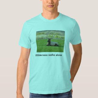 Wilderness walks alone tee shirt