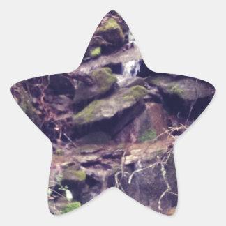 Wilderness Waterfall Star Sticker