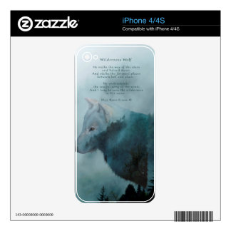 Wilderness Wolf & Eco Poem Decal For The iPhone 4