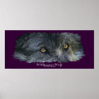 Wilderness Wolf Eyes Art Poster