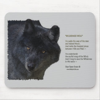 WILDERNESS WOLF & Poem Mouse Pad