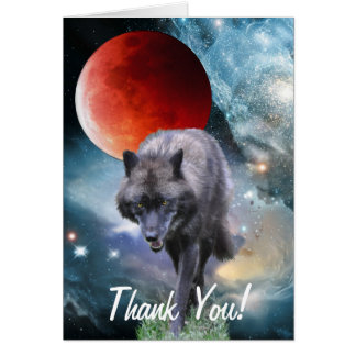 WILDERNESS WOLF & Poem Thank You Card