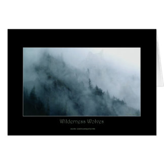 WILDERNESS WOLVES Art & Poem on a Greeting Card