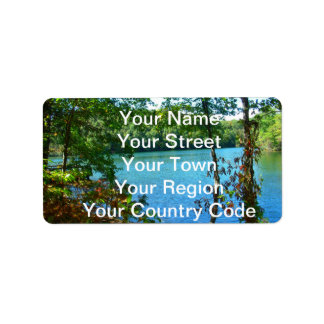 Wilderness Wooded Lake Label