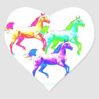 Wildest Horses Heart Sticker
