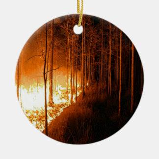 Wildfire Blaze Ceramic Ornament