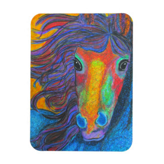 """Wildfire"" colorful abstract horse magnet"