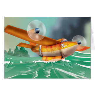 Wildfire fire-plane Aerial firefighting Card