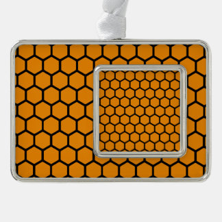 Wildfire Hexagon 4 Silver Plated Framed Ornament