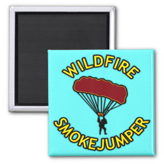 Wildfire Smokejumper Magnet
