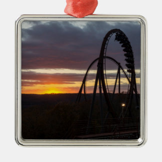 Wildfire Sunset Metal Ornament
