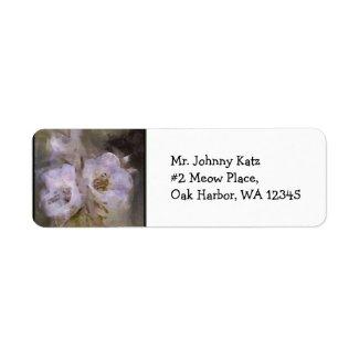 Wildflower 6 Return Address Label label