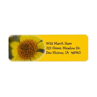 Wildflower 7 Return Address Label label