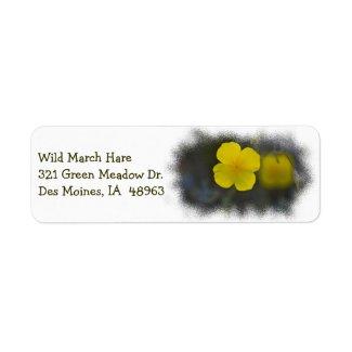 Wildflower 8 White Return Address Label label