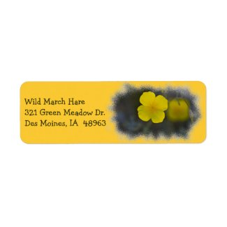 Wildflower 8 Yellow Return Address Label label