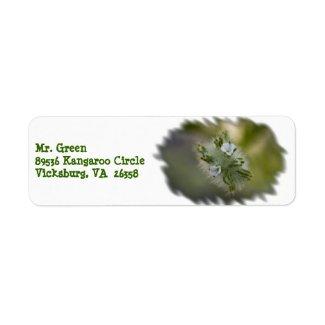 Wildflower 9 White Return Address Label label