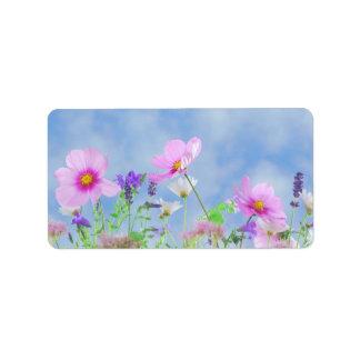 Wildflower Address Label