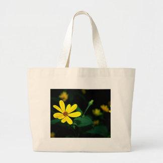 Wildflower amarillo bolsa de tela grande