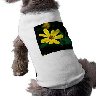 Wildflower amarillo playera sin mangas para perro