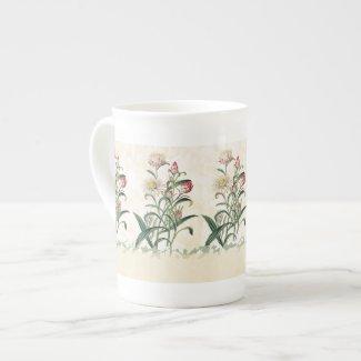 Wildflower Art Garden Bone China Mug