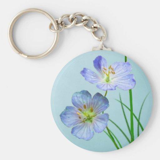 Wildflower azul llavero