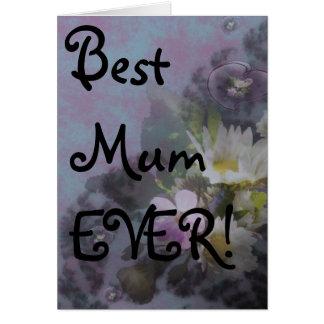 wildflower, Best Mum EVER! heart Card
