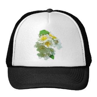 Wildflower blanco de los rosas de Multiflora Gorro De Camionero