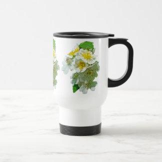 Wildflower blanco de los rosas de Multiflora Tazas De Café